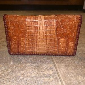 Vintage Cuban Genuine Gator Wallet